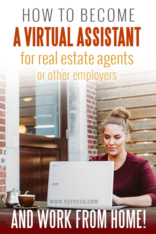 how to become a real estate virtual assistant and work from home. Learn why many stay at home moms are becoming real estate virtual assistants. Read about tasks and benefits. #VirtualAssistant